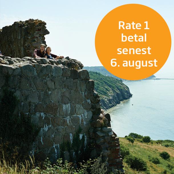 Rate 1 - betal senest 6. august
