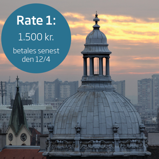 Studietur for 2.g til Zagreb – rate 1