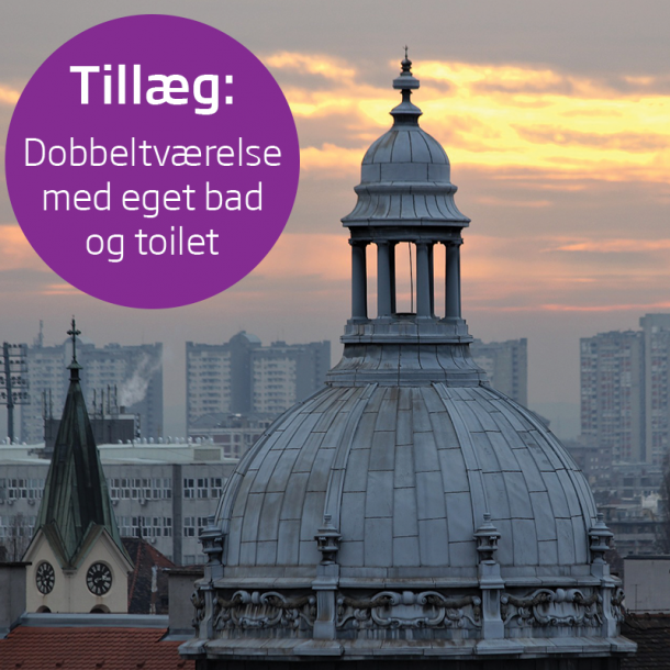 Studietur for 2.g til Zagreb –  tillæg for dobbeltværelse med eget toilet og bad