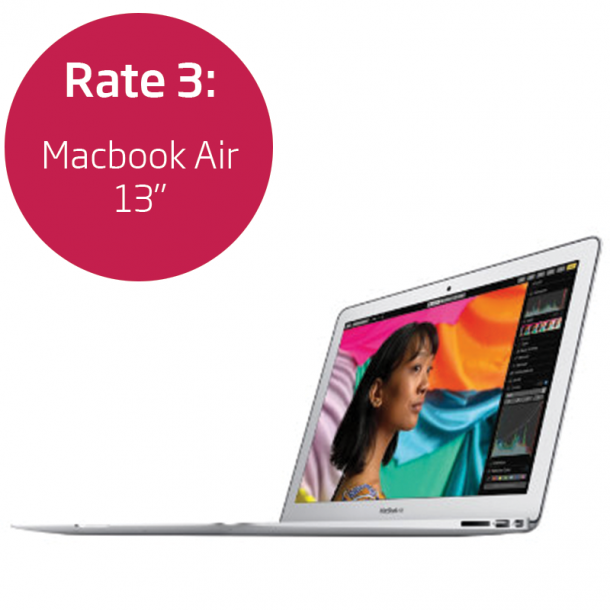 Rate 3: Macbook Air 13